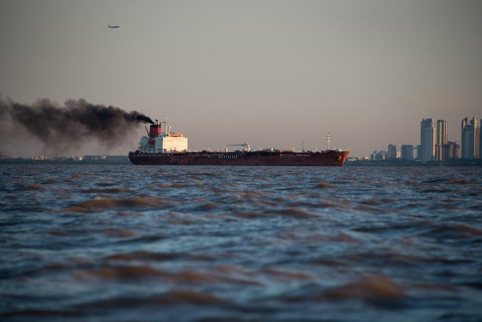 Global shipping burns some of the most polluting forms of heavy fuel oil, when offshore and out of sight of large population centers