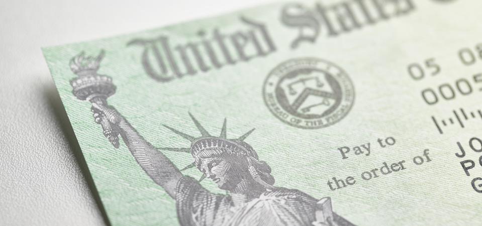 U.S. government stimulus check