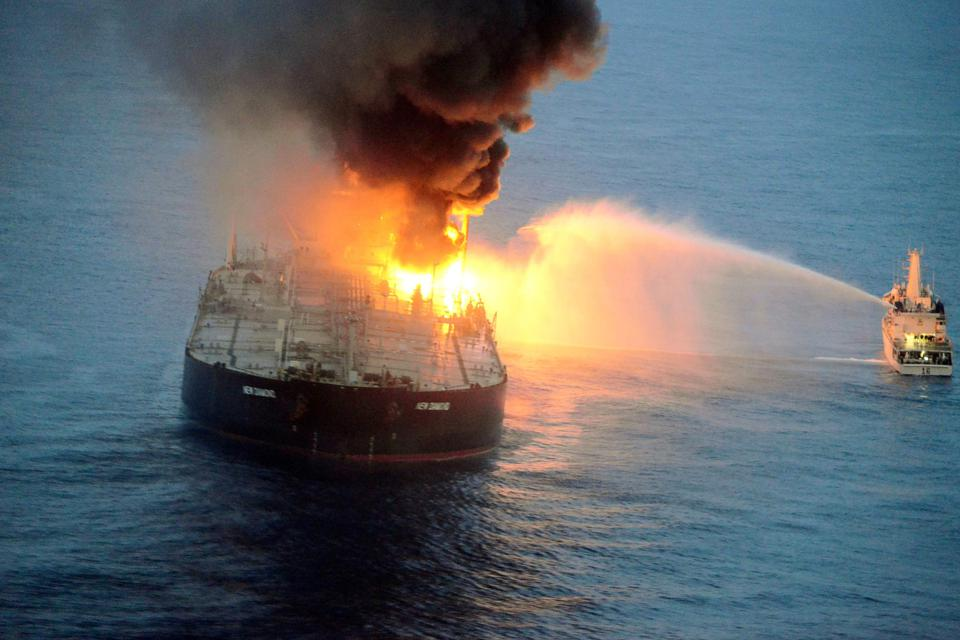 VLSFO was significantly increasing the operational risks on board ships around the world.  Seen here the MT New Diamond has an explosion, killing a crew and risking the biggest oil spill along Sri Lanka's coastline, in September 2020.