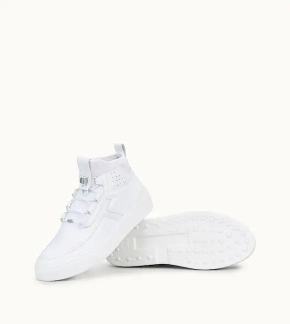 NO_CODE X HIGH TOP IN LEATHER - WHITE