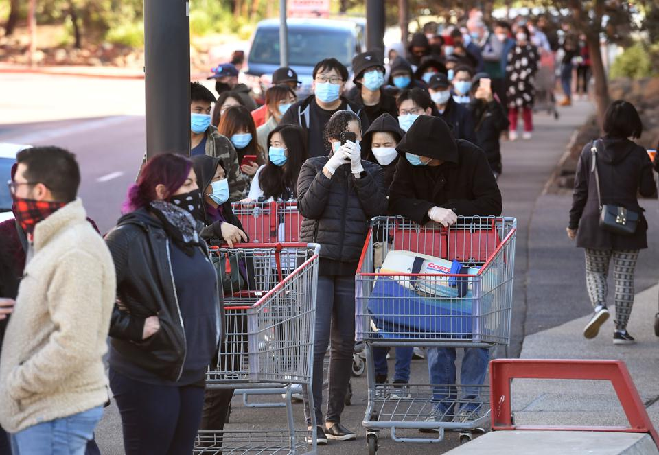 Around the world, the first wave of the coronavirus pandemic was associated with panic buying household goods, cleaning products and personal protective