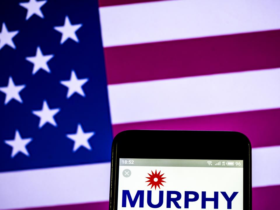 Murphy Oil Corporation logo seen displayed on a smart phone