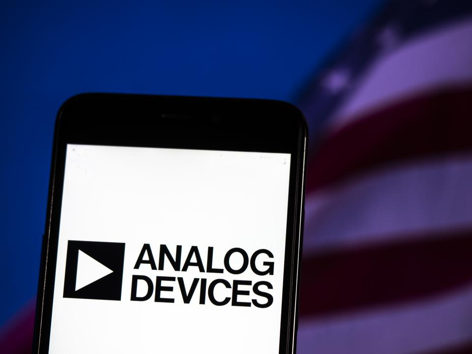 Analog Devices, Inc logo seen displayed on smart phone.