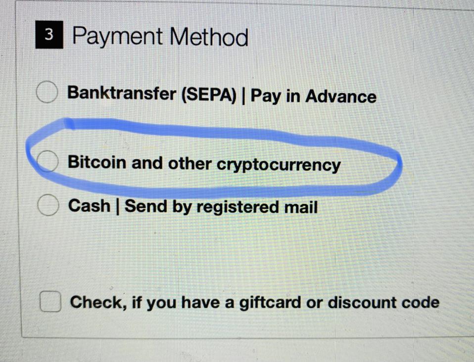 Screenshot of PayPal