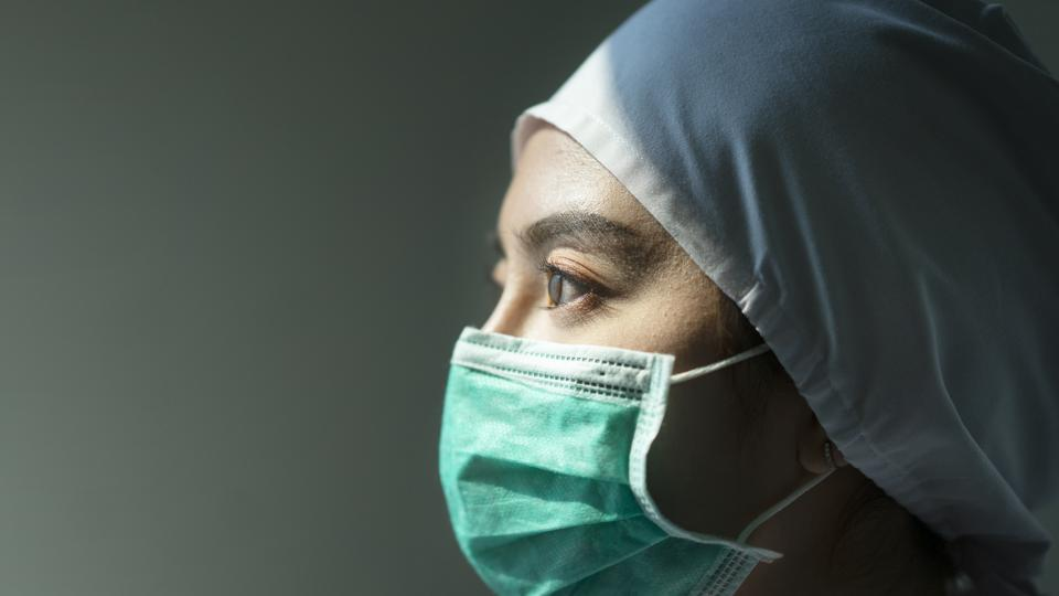 Doctor wearing Surgical mask for Coronavirus outbreak or Covid-19