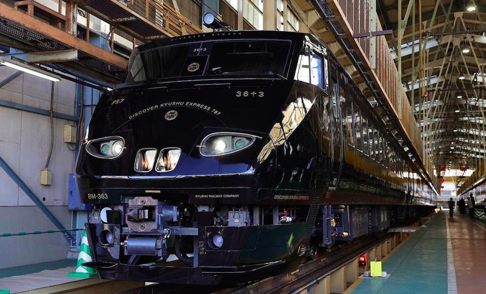 The new 36+3 train in Kyushu, Japan.