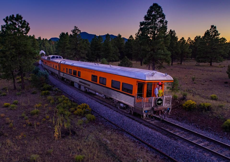 Grand Canyon Rail at dusk.