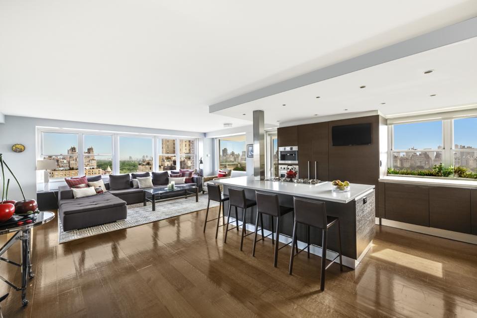 A luxury apartment in Manhattan.