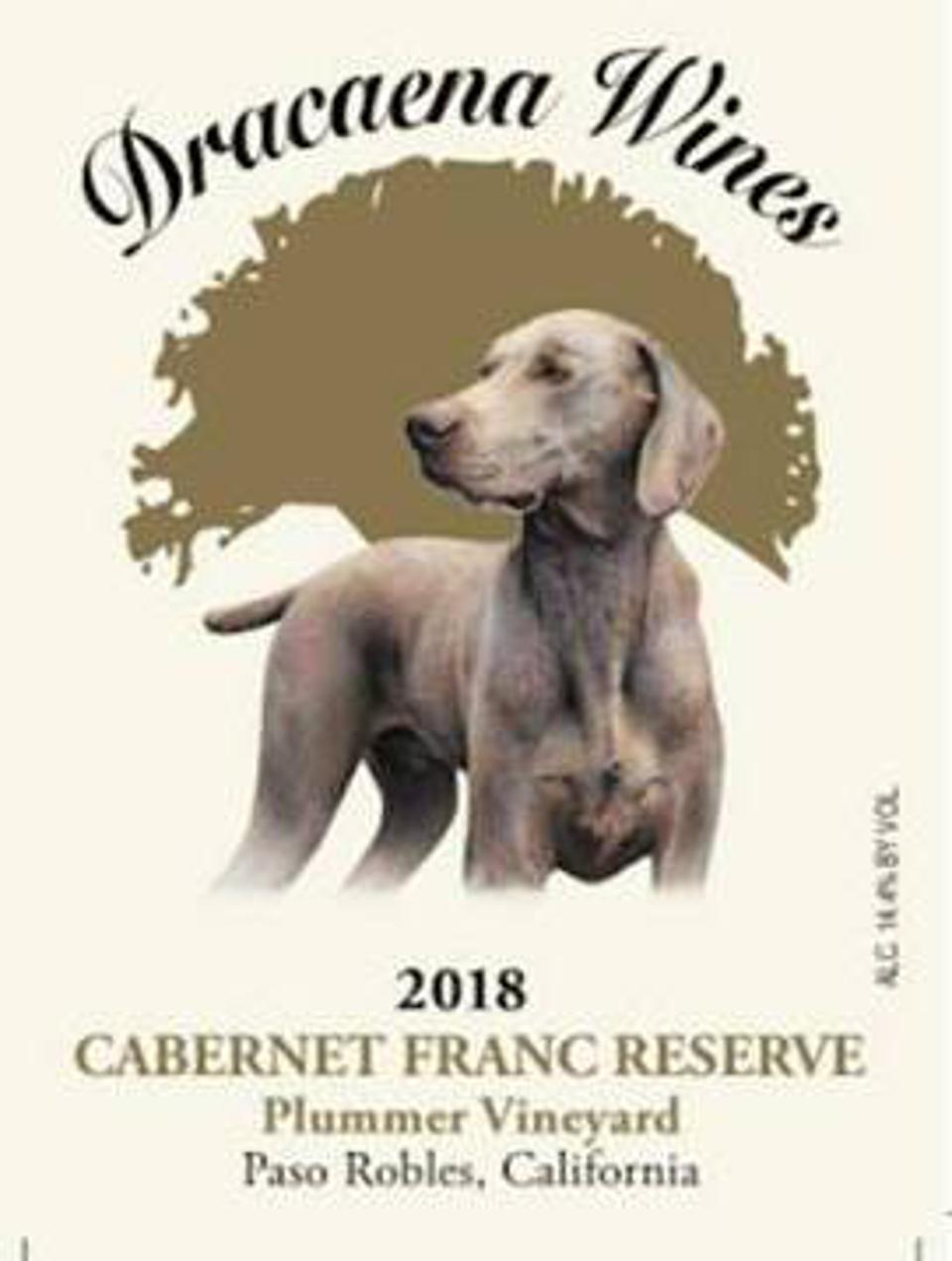 The label of Draceana Wines honors the winemaker's late dog.