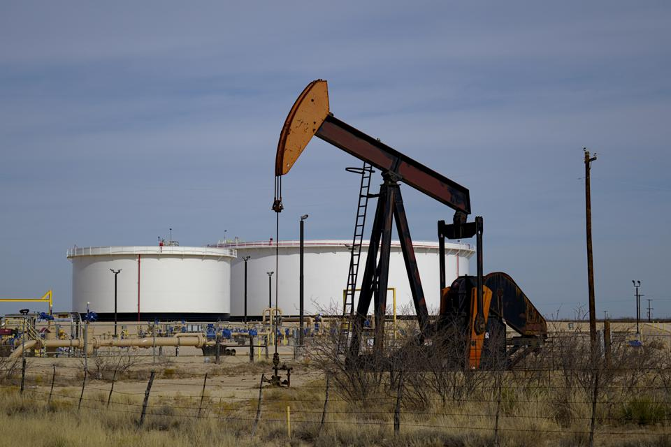 Pumping unit and tank batteries in the Permian Basin