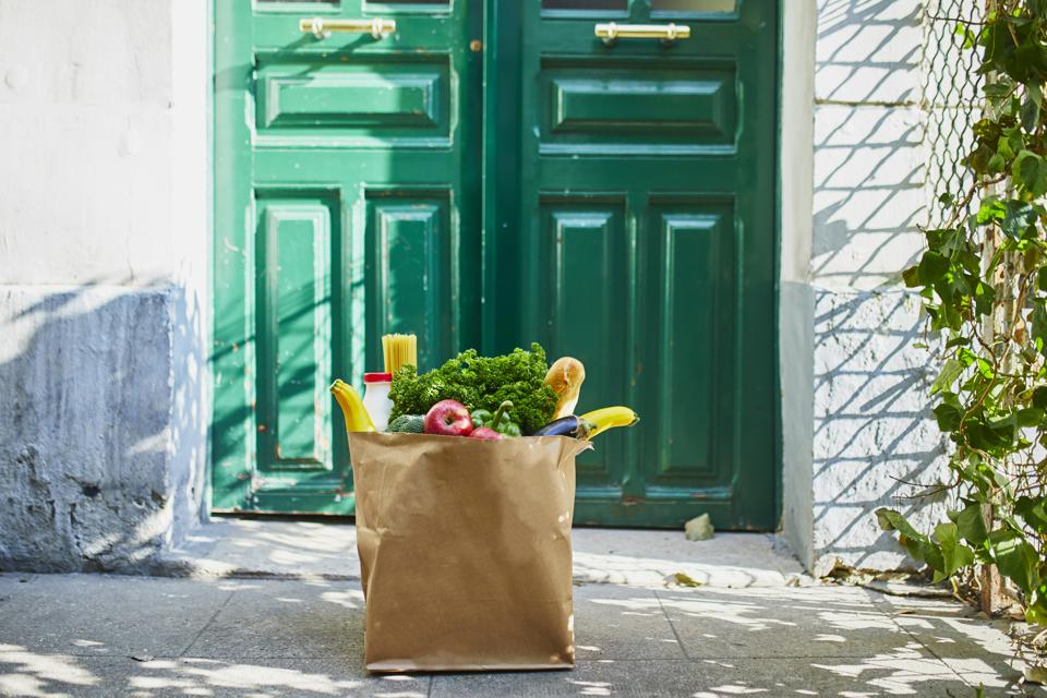 Food delivery during coronavirus outbreak.
