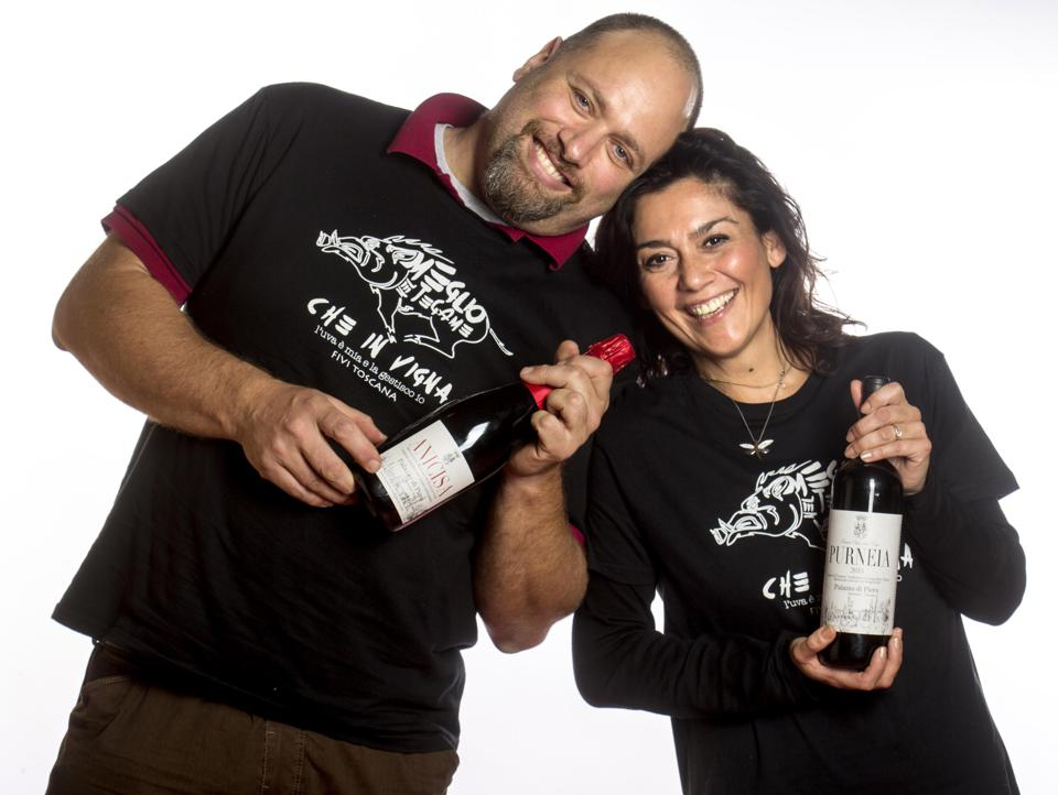 Tuscan winemaker Gregorio Galli and his wife Daniela
