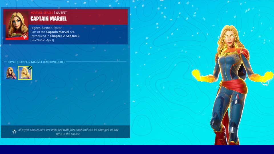 Captain Marvel Fortnite