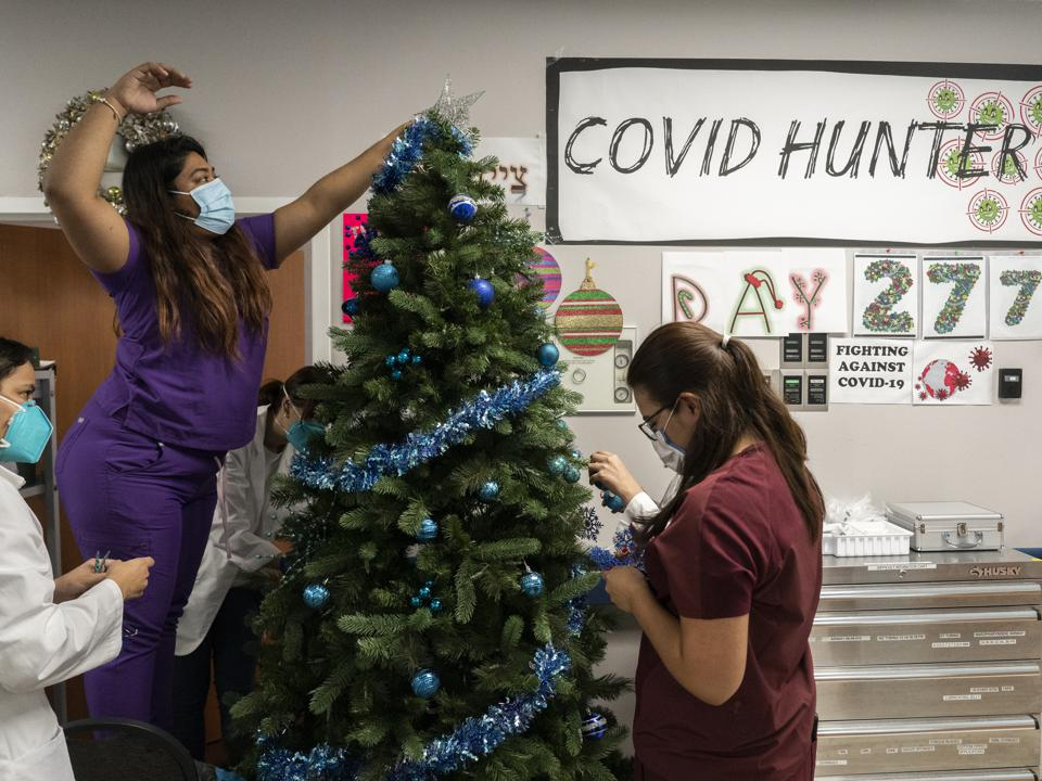 COVID-19 Hospital Admissions On The Rise As The Christmas Holiday Approaches
