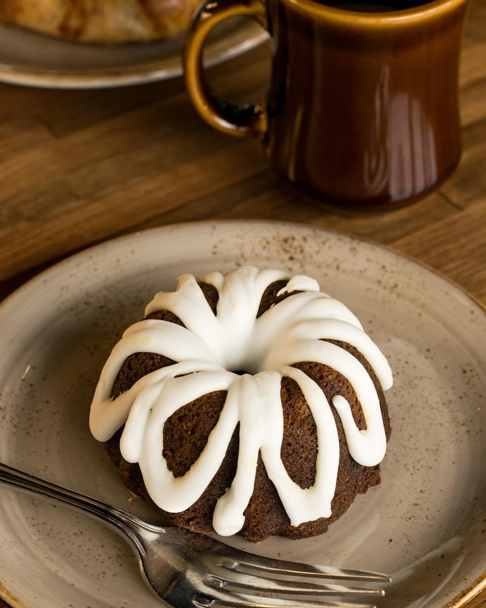 Gingerbread Bundt Cake with Lemon Glaze