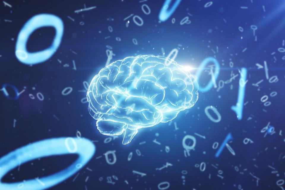 Artificial intelligence brain and binary data
