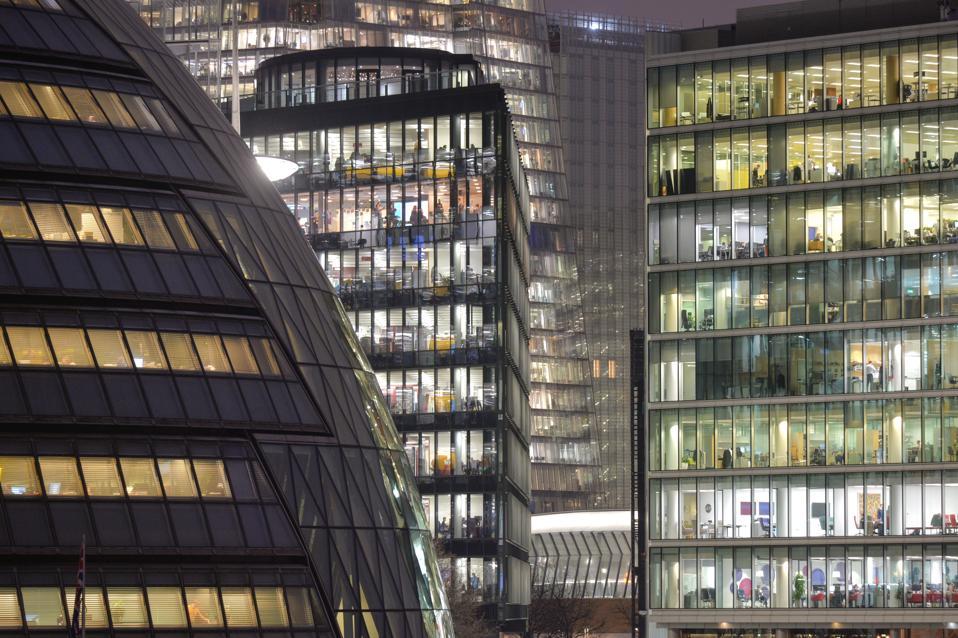 Office scene in London