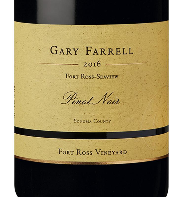 a bottle of Gary Farrell Pinot Noir