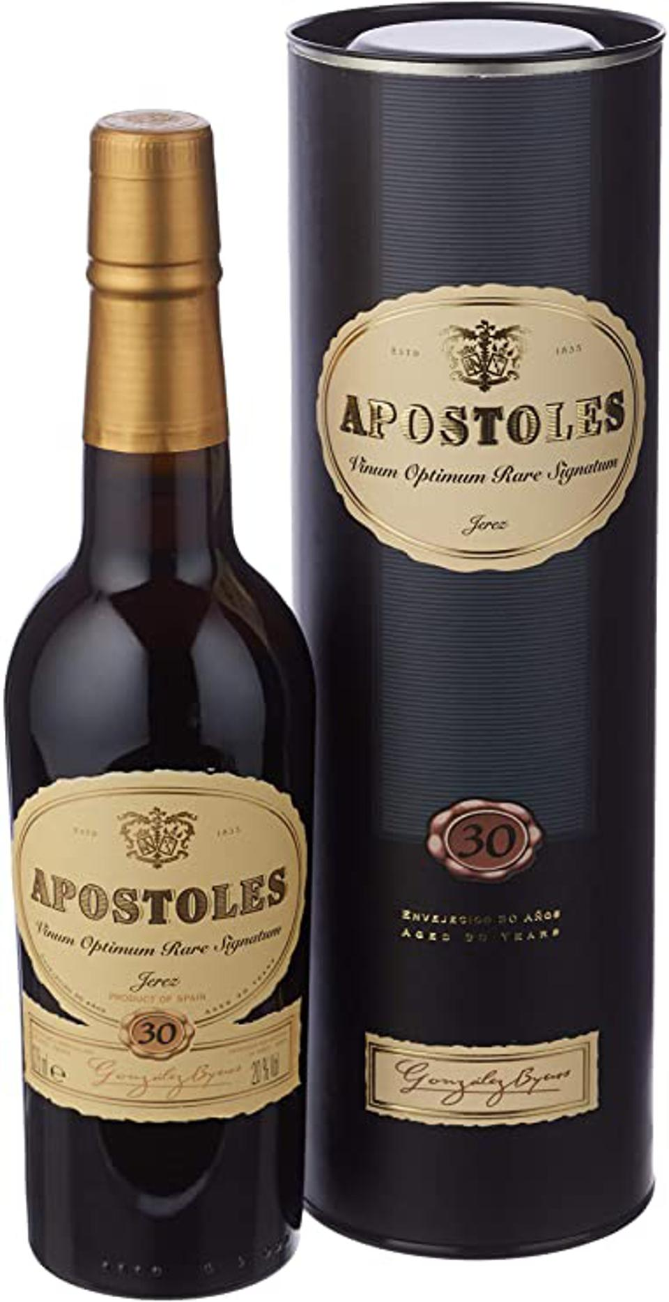 a bottle of Apostoles Sherry