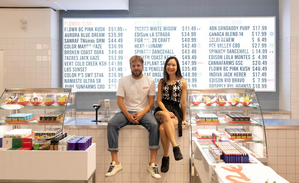 Drummond Munro, left, and Mimi Lam, right, co-founders of Superette.