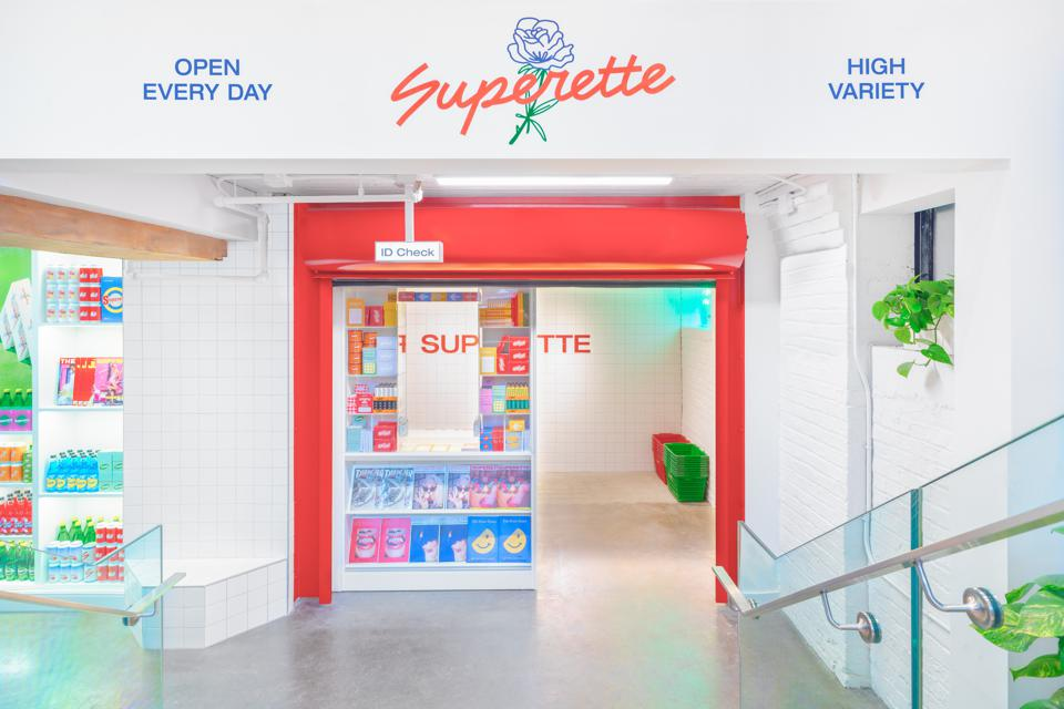 Superette's newest storefront at 49 Spadina is in the heart of downtown Toronto, and emulates a subway station convenience store.