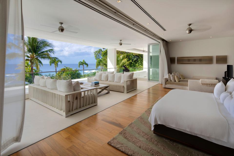 The master bedroom at Alaya