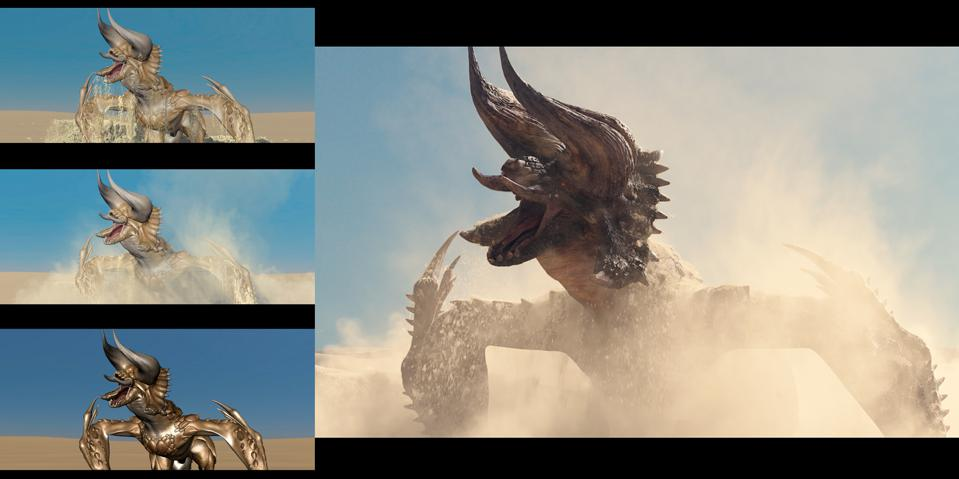 'Monster Hunter' VFX Progression