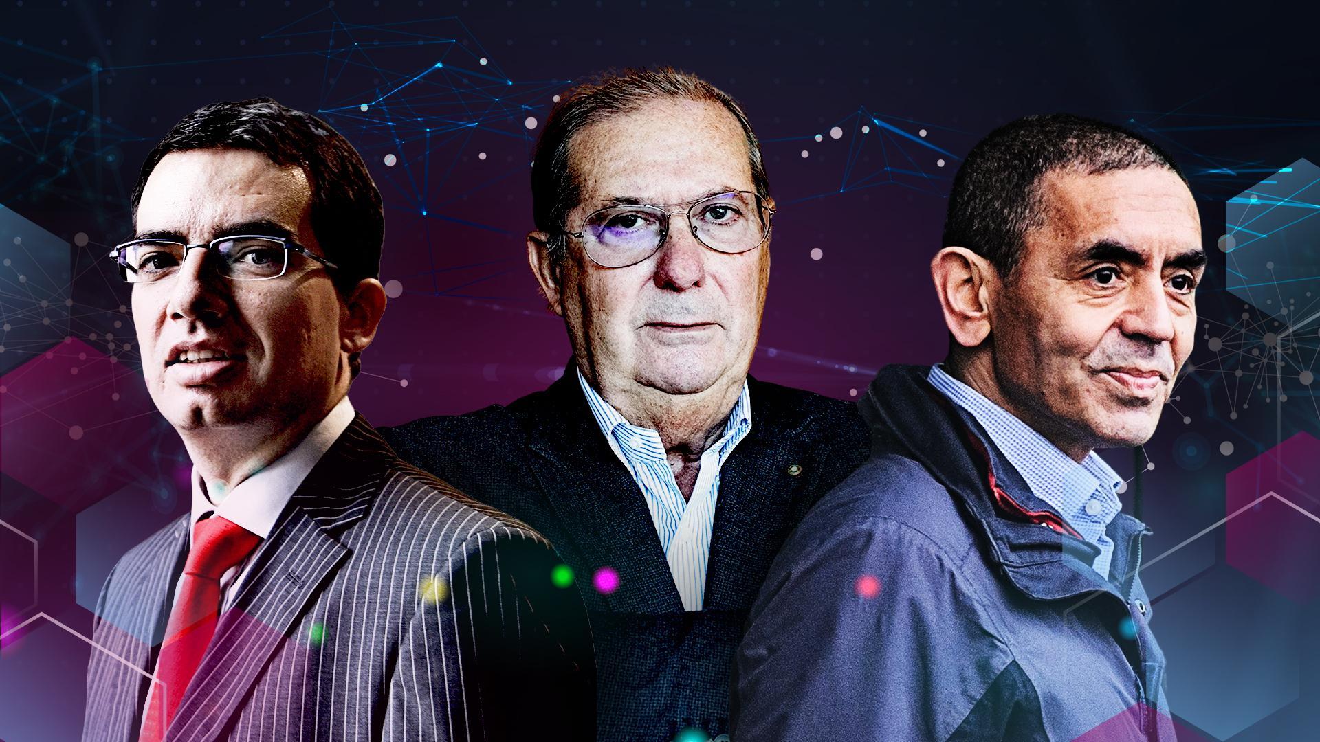 Moderna CEO Stéphane Bancel, Stevanato Group president Sergio Stevanato and BioNTech CEO Uğur Şahin.