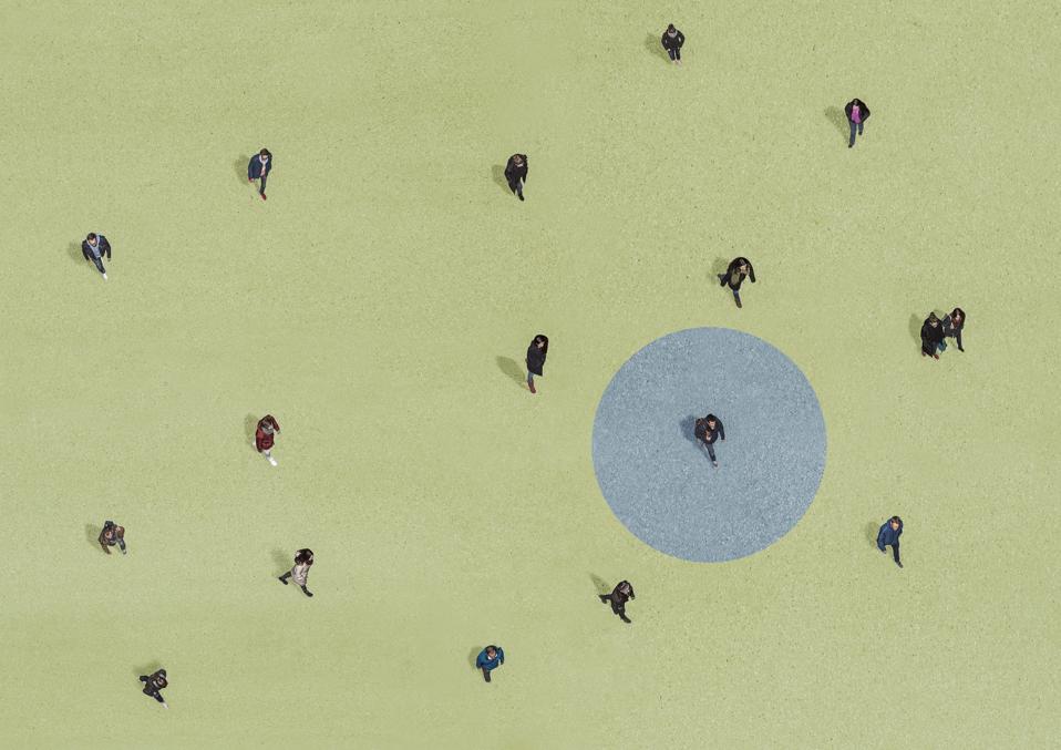 Group of people walking, Aerial Views