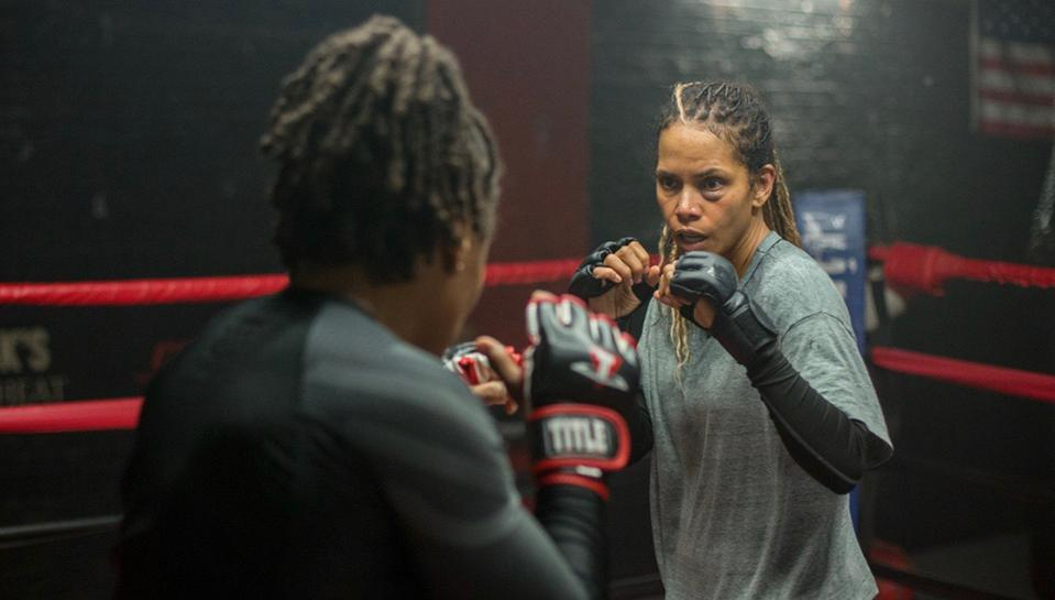 Halle Berry's directorial debut, Bruised, a story of a disgraced MMA fighter battling her own demons, and her complicated emotional relationship with her 6 year old son.