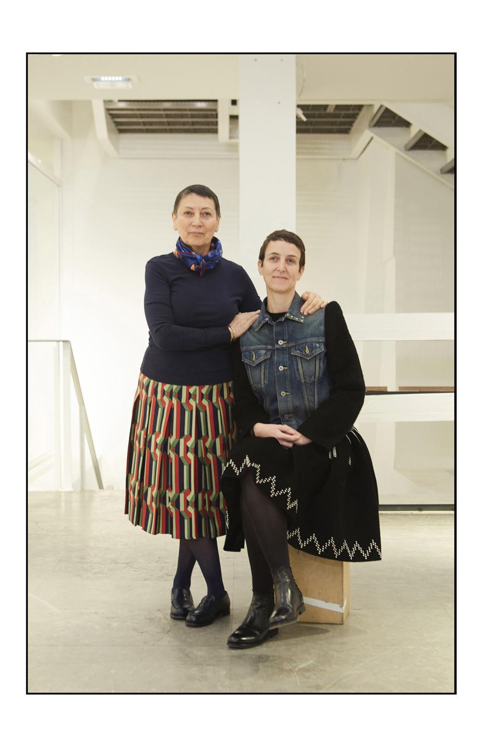 Colette Roussaux and Sarah Andelman, co-founders of colette at 213 rue Saint Honoré store.