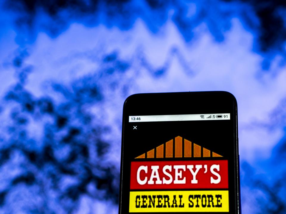Casey's General Stores Convenience store company logo seen