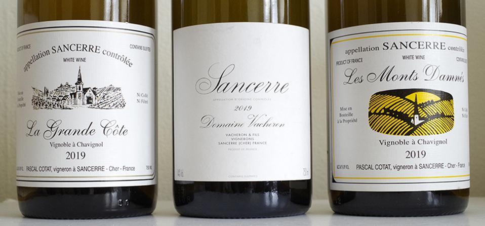 Bottles of Pascal Cotat and Domaine Vacheron Sancerre