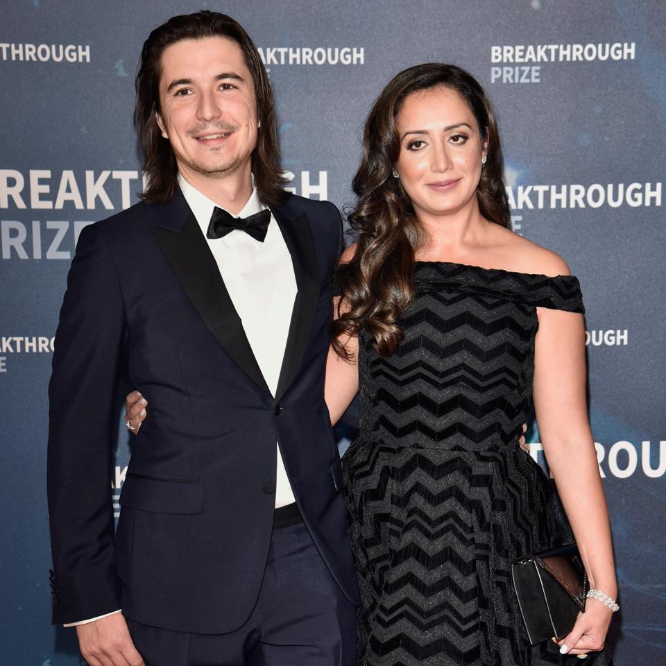 Vlad Tenev, cofounder of stock trading app Robinhood Financial, with his wife Celina Tenev