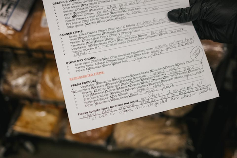 University District Food Bank customers in Seattle can have special requests.