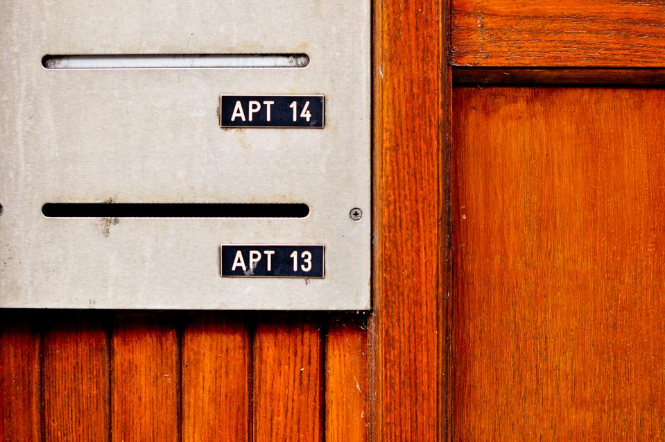 Apartment door number Close up