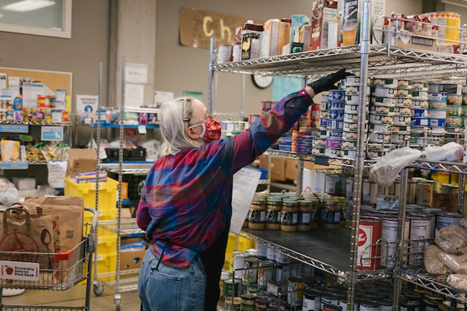 A Seattle food bank saw a huge surge in home deliveries during the pandemic.