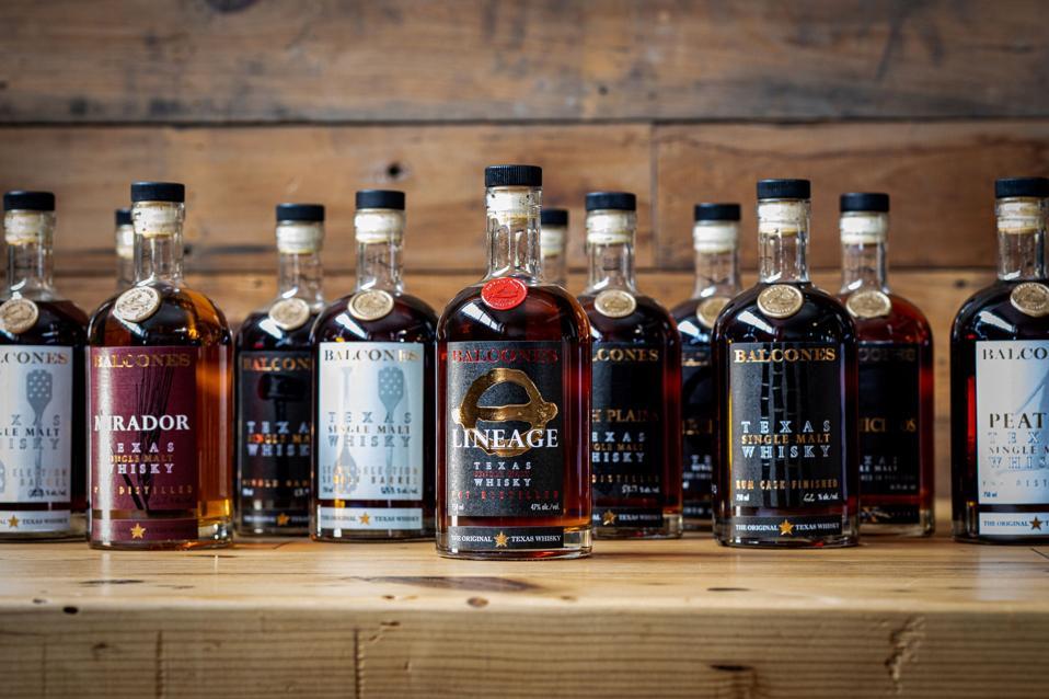 Balcones' Single Malt Whisky Family