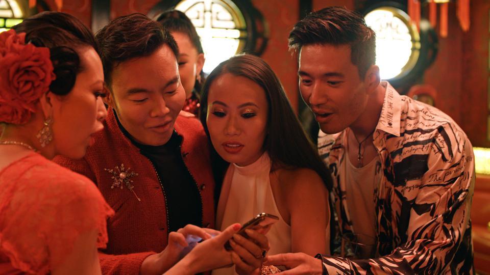 (L-R) Christine Chiu, Kane Lim, Kelly Mi Li and Kevin Kreider star in the new Netflix series 'Bling Empire' premiering in January.