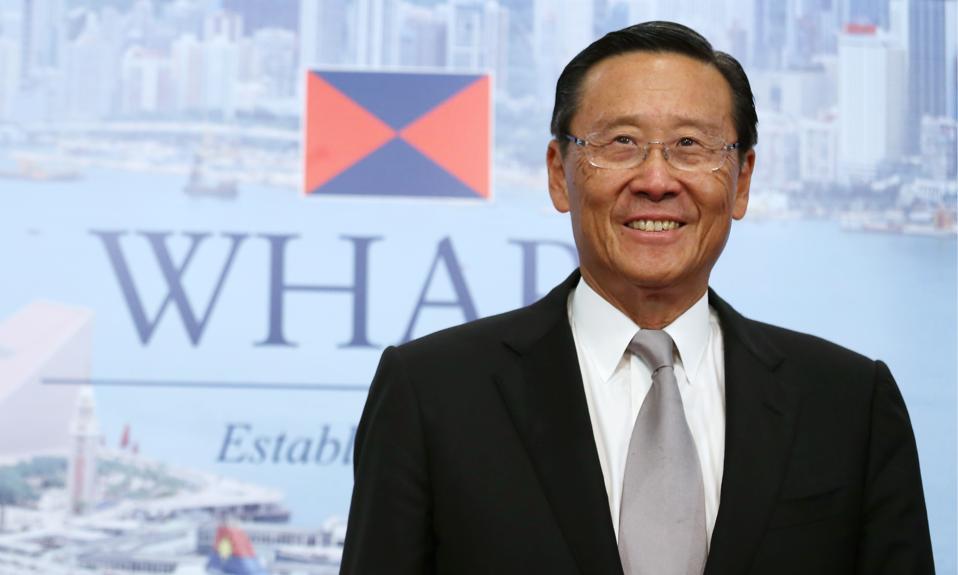 Peter Woo of Wheelock & Co. and its main subsidiary Wharf Holdings.