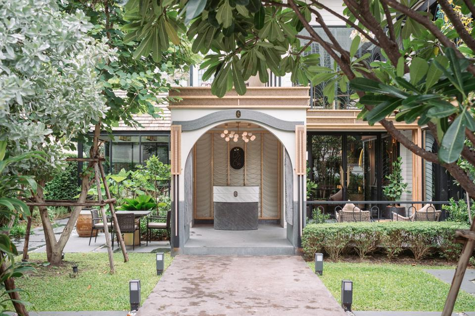 Sorn restaurant in Bangkok, Thailand, is set in colonial house in a tropical garden