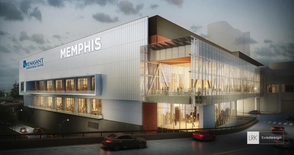 Illustration of new Memphis convention center.