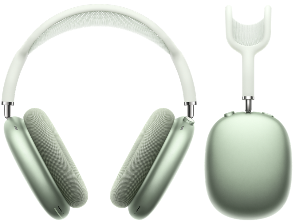 AirPods Max in green.