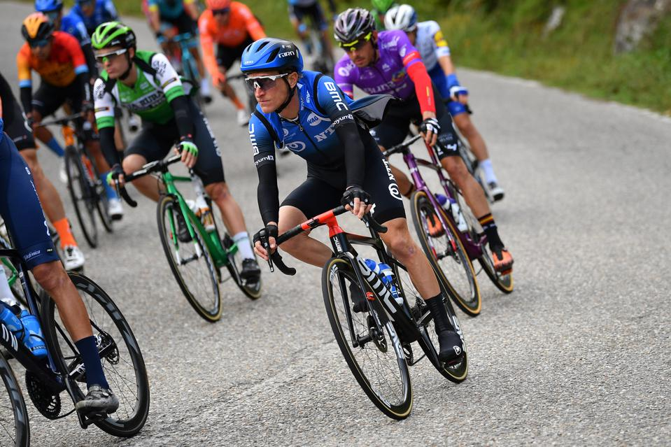 Enrico Gasparotto of NTT Pro Cycling during the Tour of Spain in November.