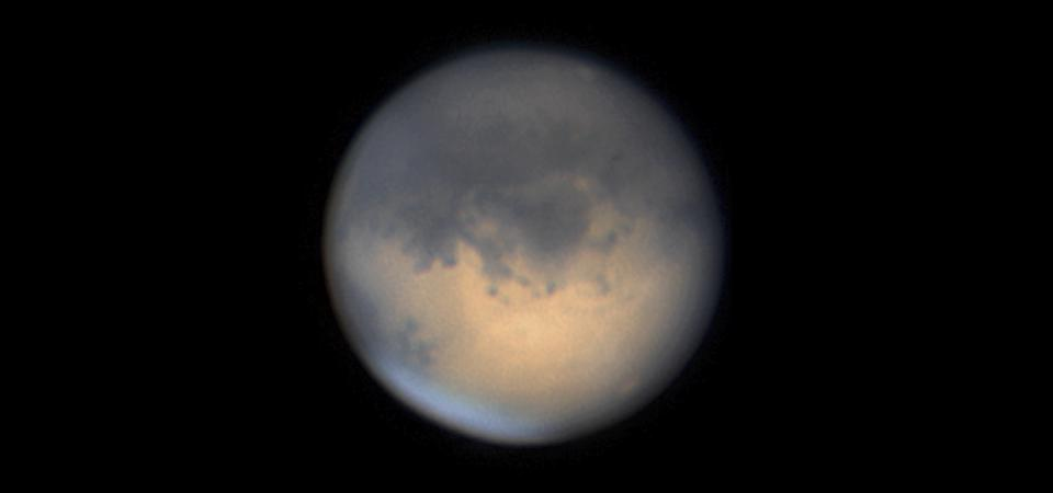 Mars through a telescope. (Photo by Jamie Cooper/SSPL/Getty Images)