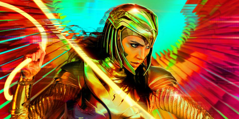 Promotional image of Gal Godot as Wonder Woman in WW84