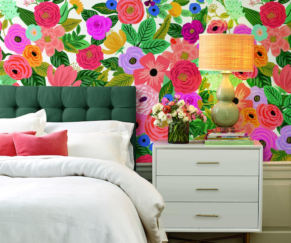 wall mural in a bedroom
