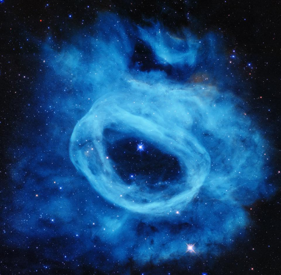 This blue nebula was created by one single star, about 200,000 times our Sun's luminosity.