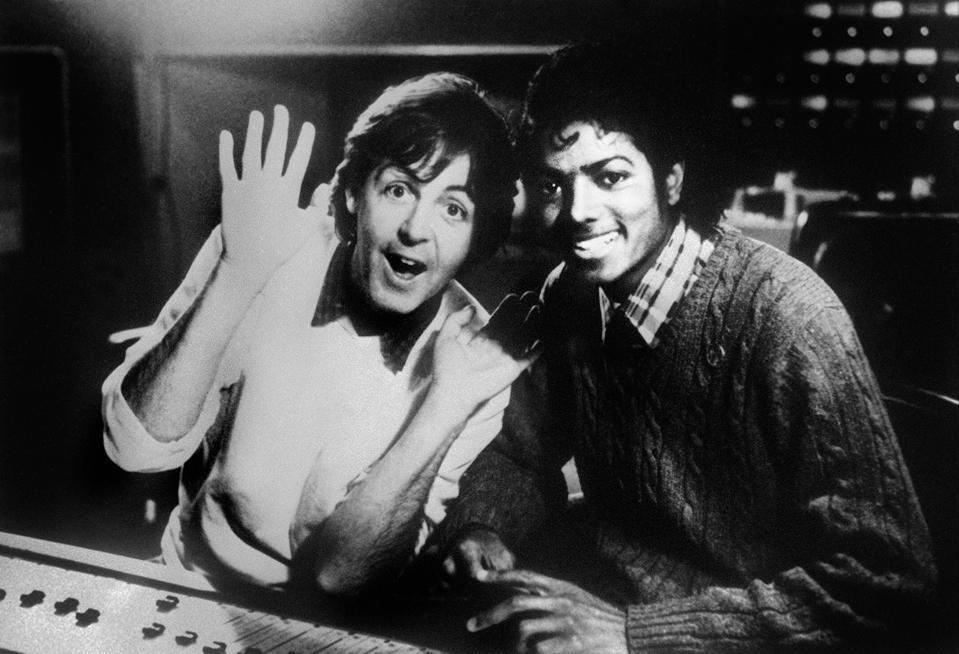 Paul McCartney and Michael Jackson in 1983