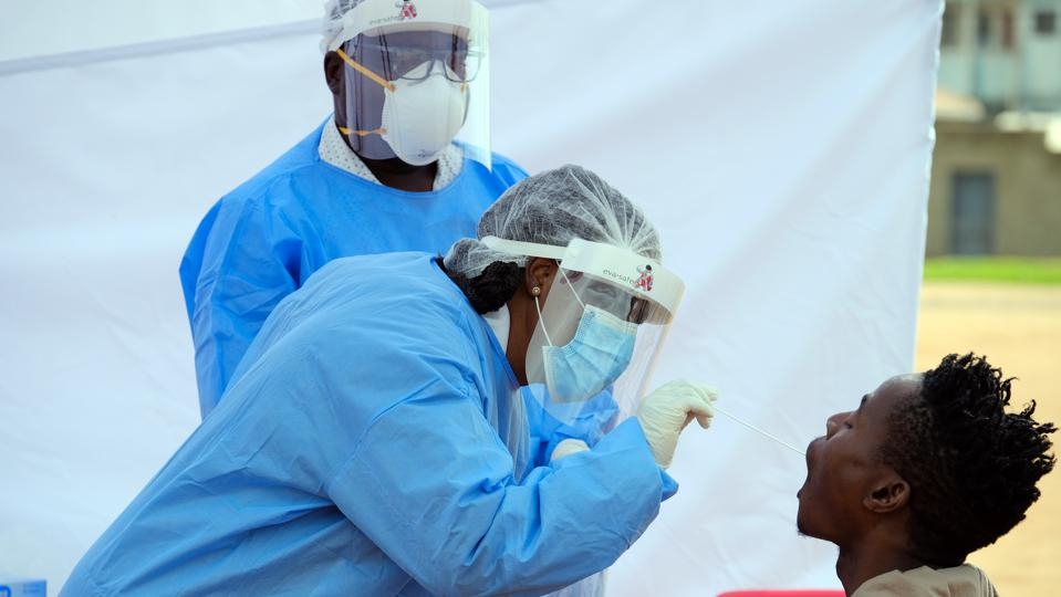 Alexandra residents get screened and tested for Covid-19 on Freedom Day in South Africa